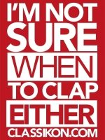 I'm not sure when to clap either, range of merchandise