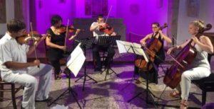 Ziga Faganel & Vlatka Peljhan, violins, Aleksandar Jakopanec, viola, Alja Mandic & Kristina Winiarski, cellos